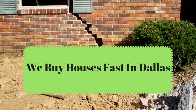 We Buy Houses Fast In Dallas