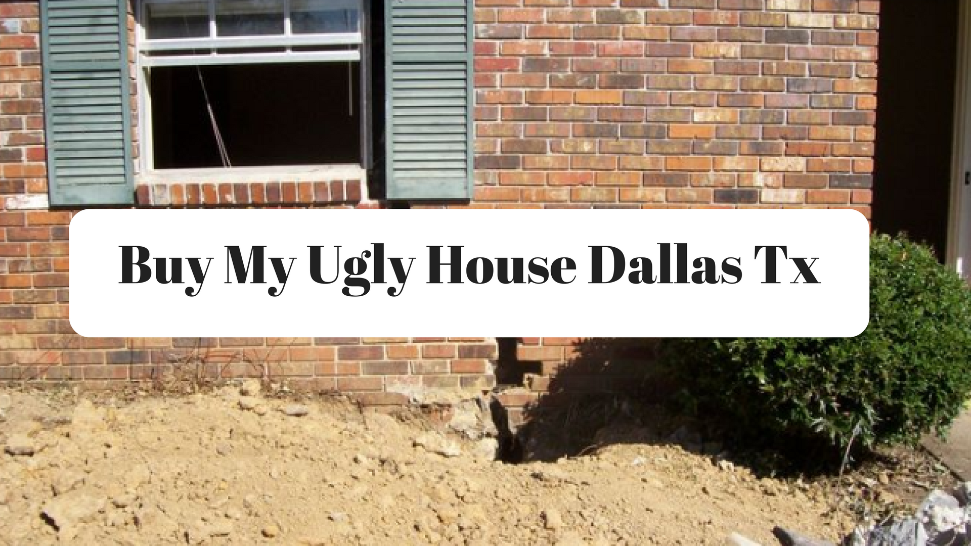 Buy my ugly house dallas tx things to know about closing for Buy house in dallas texas